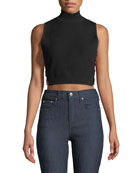 Aria Mock-Neck Crop Top
