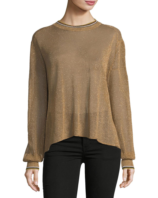 Crewneck Lurex® Oversized Sweater