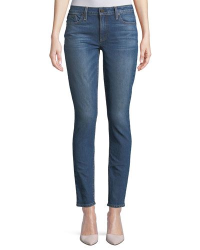 Low-Rise Skinny-Leg Jeans with Studded Trim