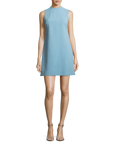Coley Mock-Neck Sleeveless A-Line Mini Dress