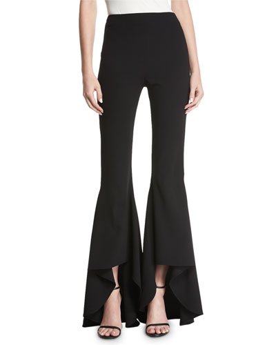 Jinny High-Low Flared-Leg Pants