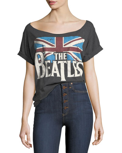 The Beatles Boat-Neck Short-Sleeve Tee