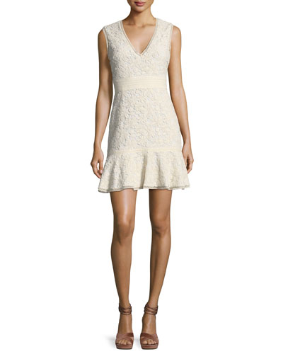 Onella V-Neck Sleeveless Lace Dress