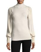 Turtleneck Merino Wool Pullover Sweater