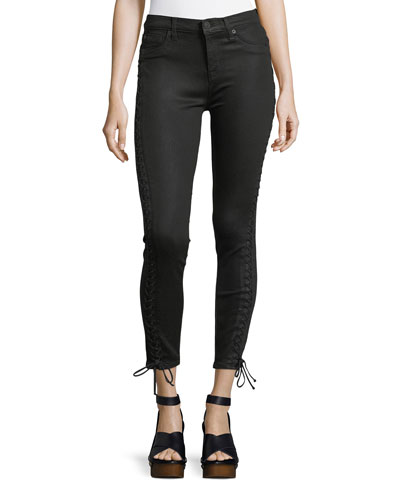 The Stevie Lace-Up Skinny-Leg Jeans