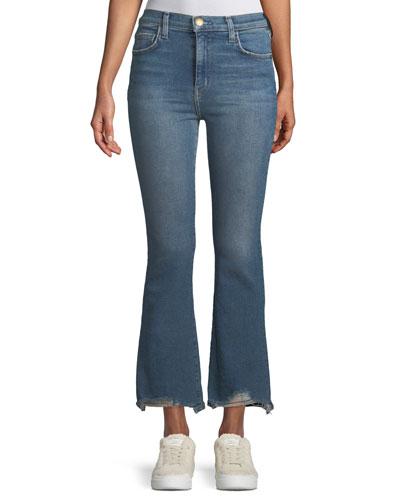 High-Waist Kick Flare Jeans
