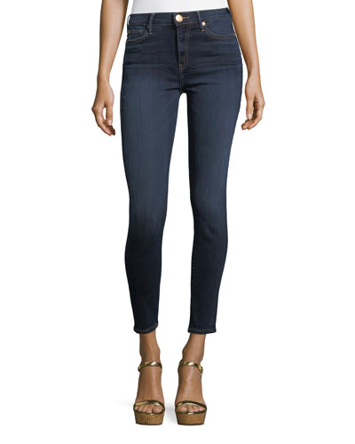 Halle High-Rise Super Skinny-Leg Ankle Jeans