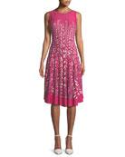 Tango Twirl Sleeveless Fit-and-Flare Dress, Plus Size