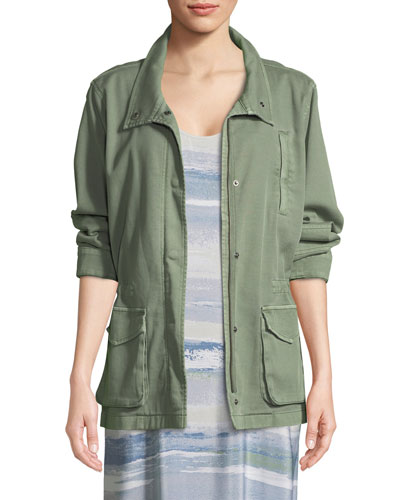 Modern Cotton-Blend Utility Jacket