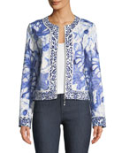 Rainforest Zip-Front Jacket, Plus Size