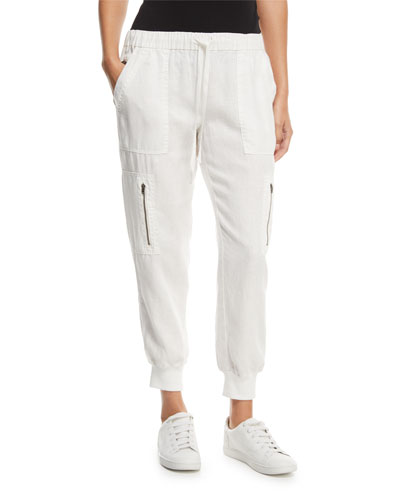 Florimel Six-Pocket Linen Jogger Pants