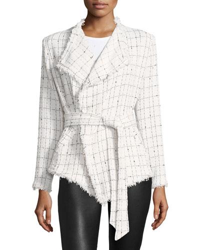 Quinet Belted Tweed Jacket