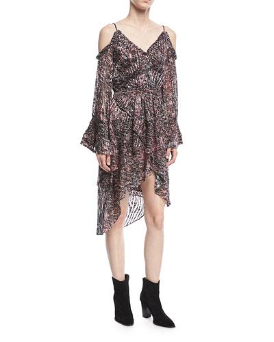 Eloma Printed Off-the-Shoulder Short Dress