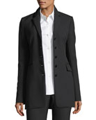 Five-Button Perform Tech Skinny Blazer