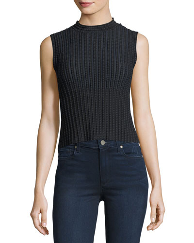 Cropped Novelty Checker Shell Top
