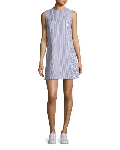 Helaina Sayre Striped A-Line Mini Dress