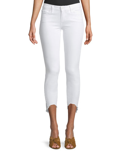 Verdugo Skinny-Leg Crop Jeans with Arched Hem