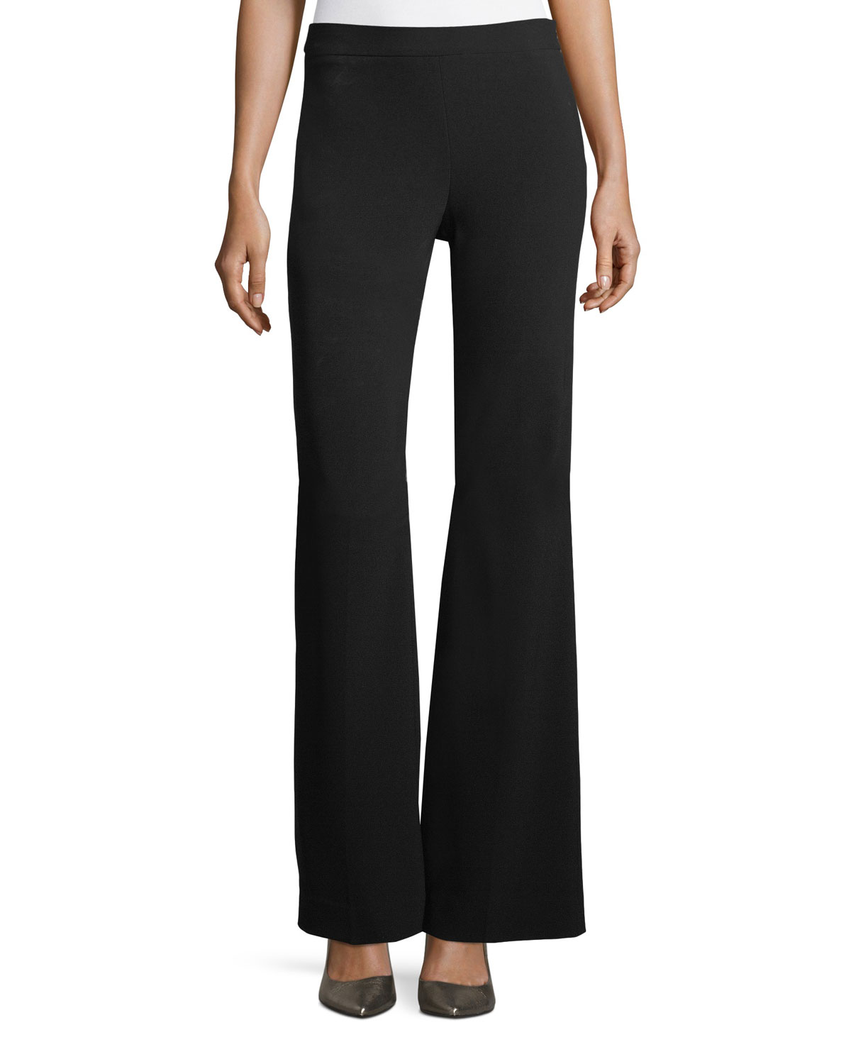 Clean Flare-Leg Admiral Crepe Pants