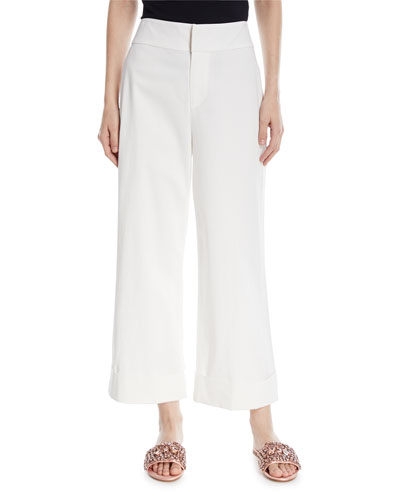 Knox High-Waist Wide-Leg Ankle Pants