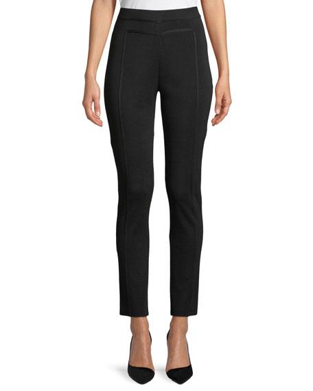 Misook Seam-Detailed Slim-Fit Pants