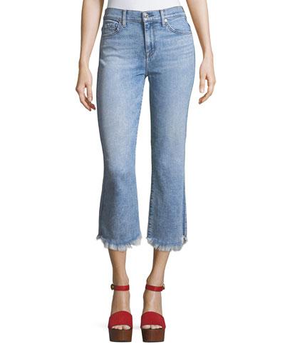 Ali Cropped Jeans with Raw-Edge Hem