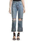 Rickie Distressed Boyfriend Ankle Jeans