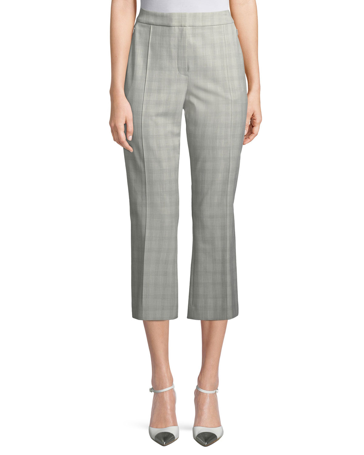 Lisa Micro Plaid Crop Pants