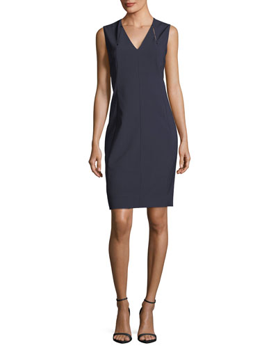 Roanna V-Neck Sheath Dress