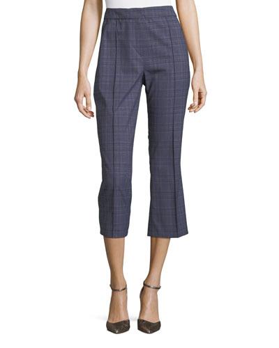 Lisa Plaid Crop Pants