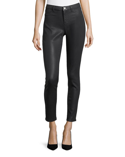 Azella Coated-Denim Jeans