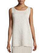 Washable Crepe Long Tank, Plus Size