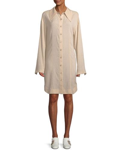 Reuben Rayon/Linen Shirtdress