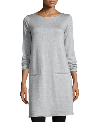 Long-Sleeve Fleece Tunic, Plus Size