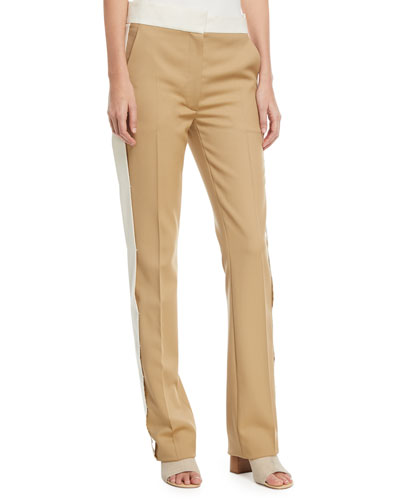 Winds Side-Stripe Flare Trousers