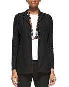 Washable-Crepe Long Jacket