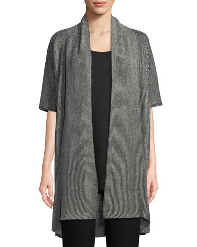 Organic Linen Open-Front Cardigan
