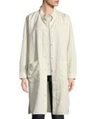 Knee-Length Stand-Collar Jacket, Petite