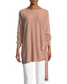 Cashmere Side-Tie Tunic, Plus Size