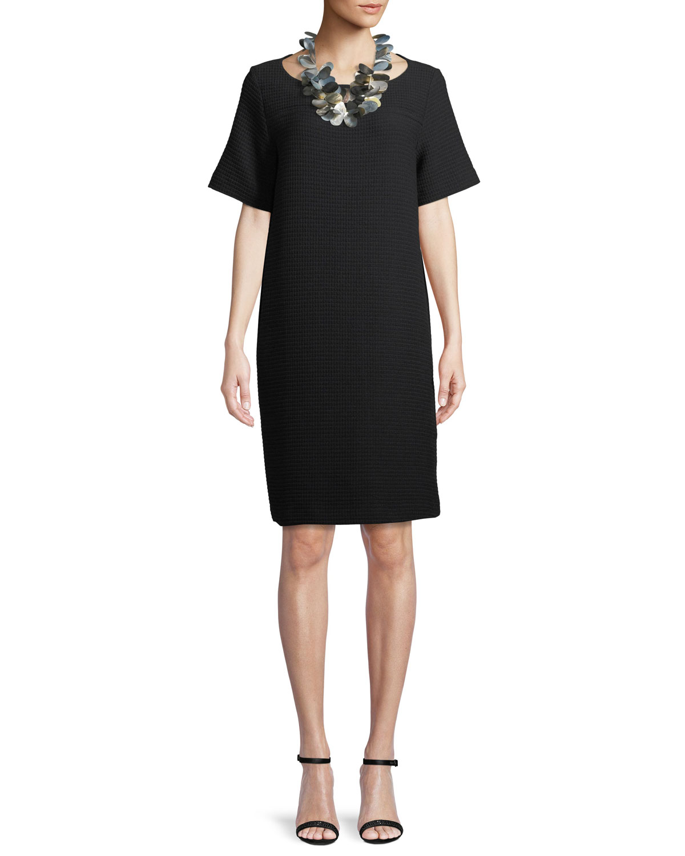 Geometry Stretch Short-Sleeve Dress