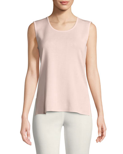 Classic Solid Knit Tank, Blush, Plus Size