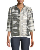 Graphic Metallic Short Jacket