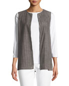 Genesis Luxuriant Perforated Lamb Suede Vest