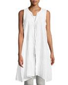 Sleeveless Organic Handkerchief Linen Tunic