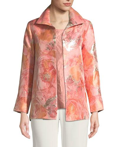 Sitting Pretty Floral Jacquard Jacket, Petite