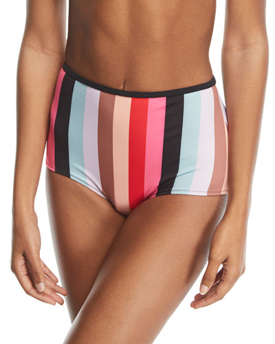 The Brigitte Malibu Stripe Swim Bottoms