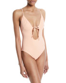 The Kelsey Tie-Front One-Piece Swimsuit
