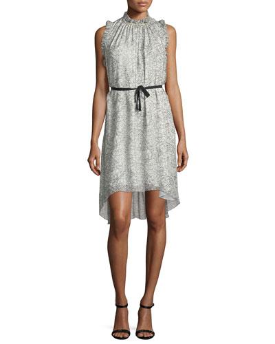 Balere Ruffle-Trim Silk Dress