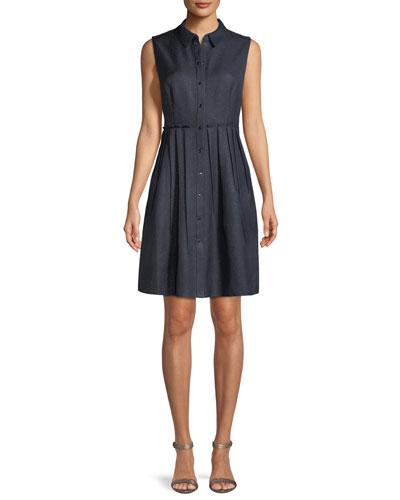Samiyah Sleeveless Button-Front Dress