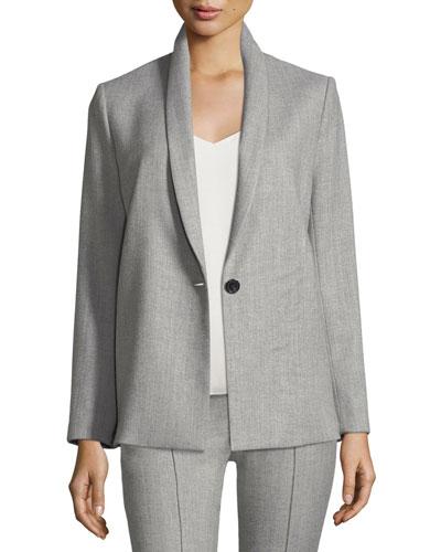 Marion Shawl-Collar One-Button Blazer