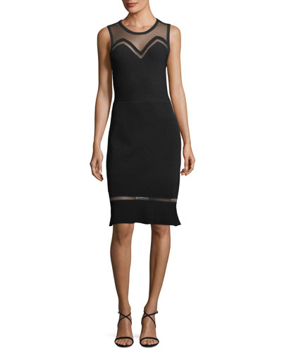 Saskia Illusion Sleeveless Dress